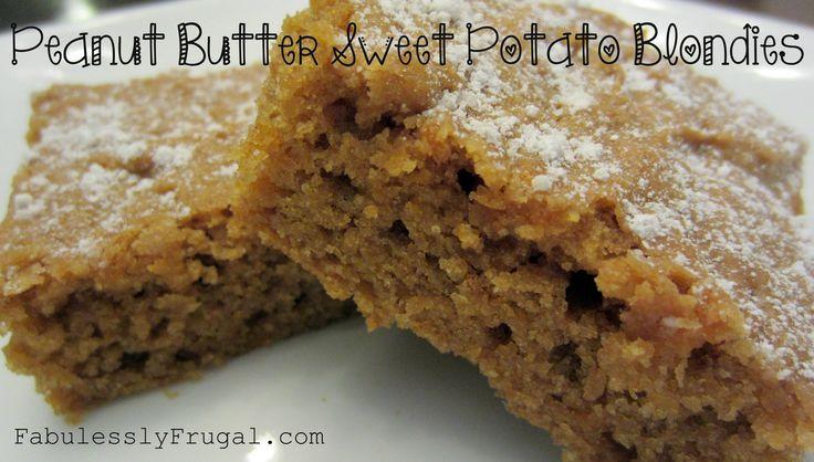 Peanut Butter Sweet Potato Blondies. A peanut-buttery cake-like treat ...