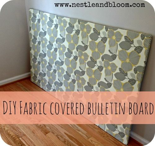 Fabric covered bulletin board diy school stuff ideas for Diy fabric bulletin board ideas