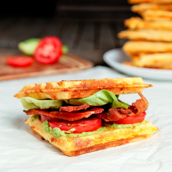 Cheddar Cornmeal Waffle BLT | Food = Sandwiches & Wraps | Pinterest