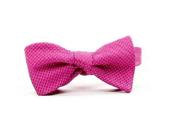 Donald Trump Men's Lurex Bowtie in Pink and Silver