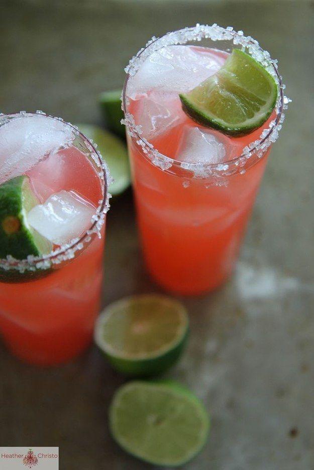 Strawberry-Rhubarb Margaritas | 29 Ways To Eat Strawberries And ...