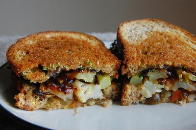 and Cauliflower Sandwich with Giardiniera and Onion Barbecue Sauce ...