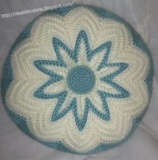 Retro Round Ripple Pillow ~ free pattern All Things ...