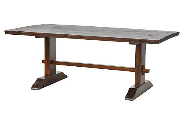 Sequoia Dining Trestle Table On 999 78W42D30H