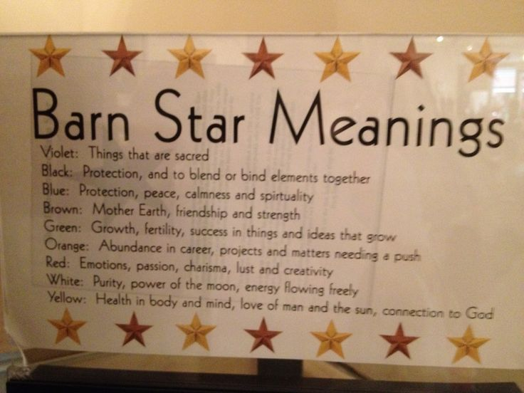 Barn star meanings primitives my style pinterest for Decor meaning