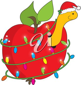 Christmas worm | clip art | Pinterest