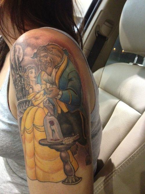 Beauty and the beast tattoo! | Tattoo Ideas! | Pinterest