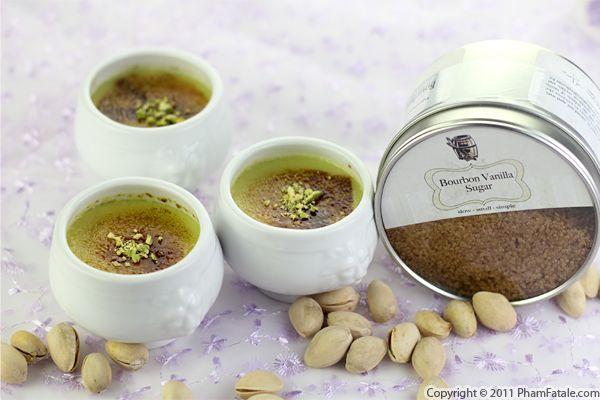 Pistachio Dessert: Pistachio Creme Brulee Recipe (+Giveaway) - Pham ...