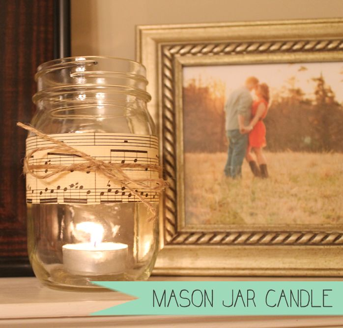 Diy mason jar candle diy home decor for the home for Diy candle jar decorations