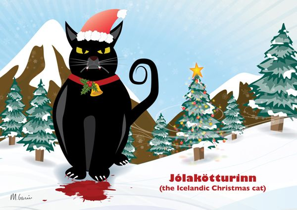 TIL The Terrifying Icelandic Yule Cat and the Other Christmas ...