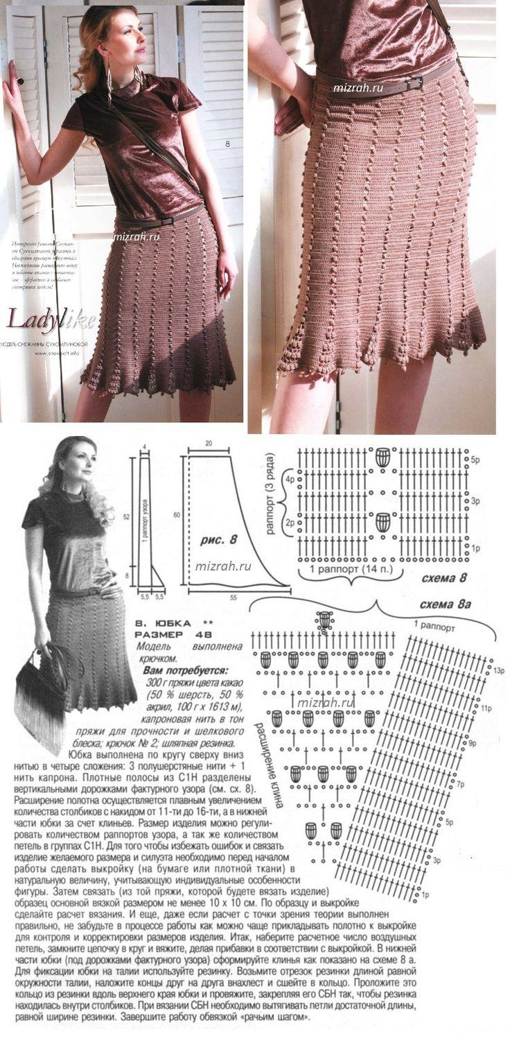 Вязание юбок схемы и фото для начинающих