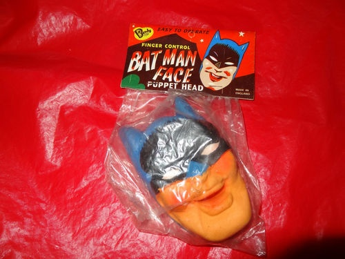 Vintage Batman Bendy Toys Puppet Face 1966 Overseas NPP England Superhero | eBay