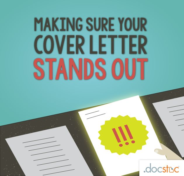 Making sure your cove letter stands out cover letter and for Making a cover letter stand out