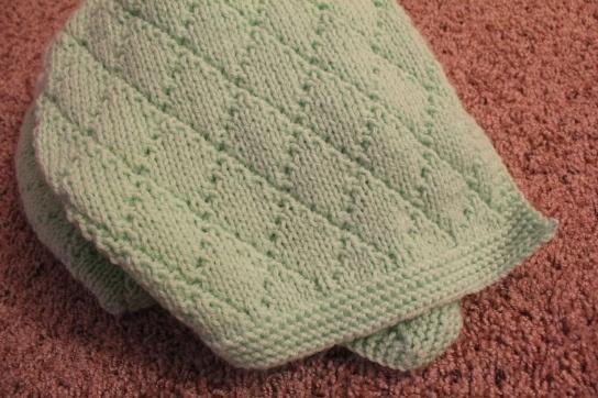Crochet Baby Blanket Diamond Pattern : knitted baby blanket - diamond pattern Knit/Crochet ...