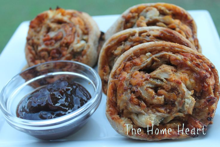 BBQ Chicken Pizza Pinwheels | Pizza | Pinterest