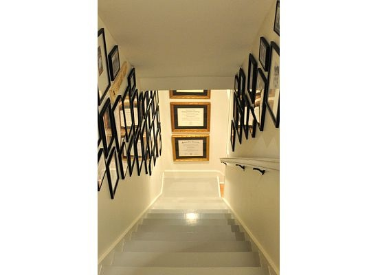 Painted Basement Stairs And I Love The Pictures Up The Stairs