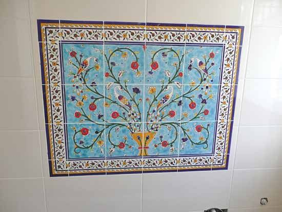bathroom tile mural for the home pinterest