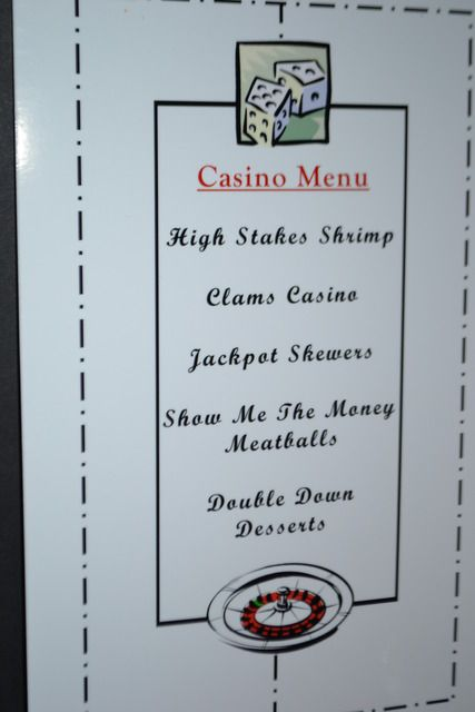 Casino party food names