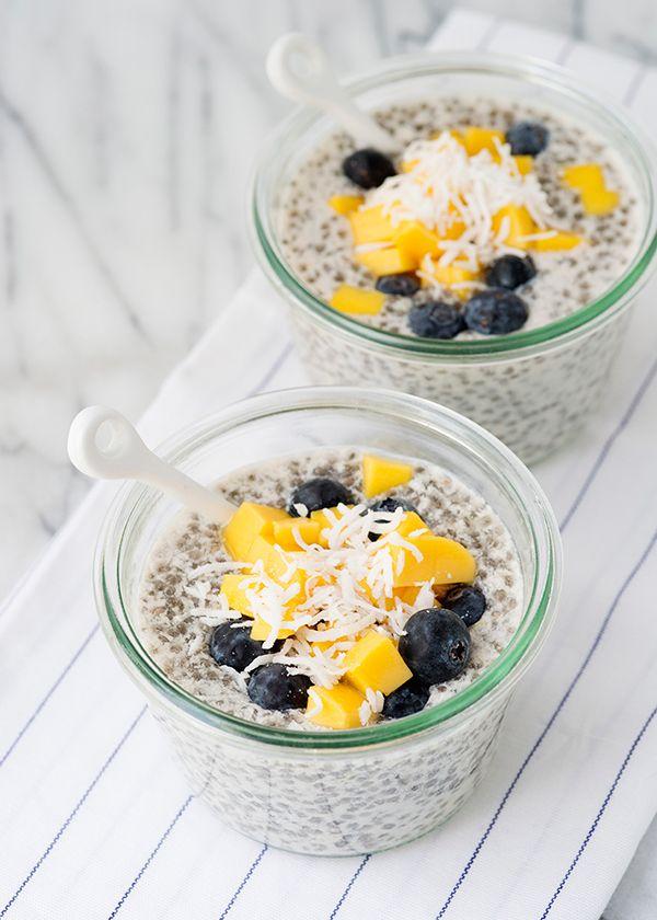chia seed pudding recipe... Fiber filled breakfast!