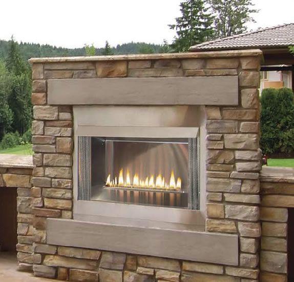 42 Inch Outdoor Contemporary Gas Fireplace Decks Pinterest