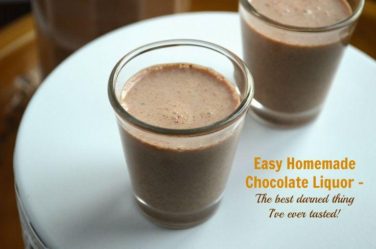 Souffle Bombay: Creamy Homemade Chocolate Liquor #theleftoversclub