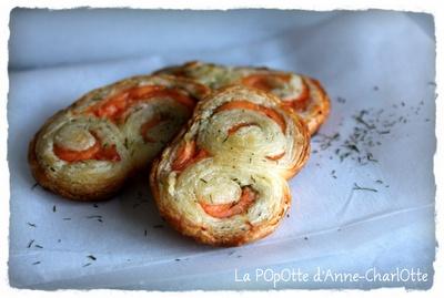 Palmiers Feuilletés SaumOn Aneth | Cuisine | Pinterest