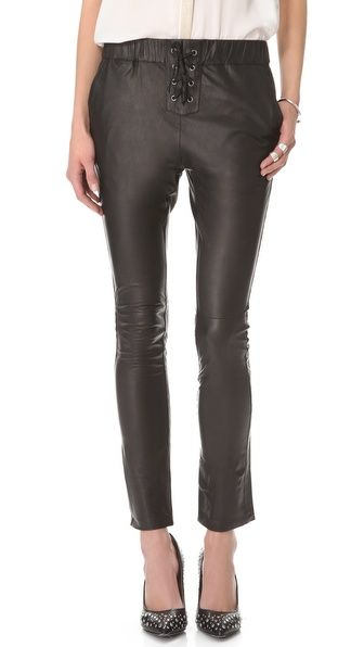 Friend of Mine Dizzy Leather Track Pants