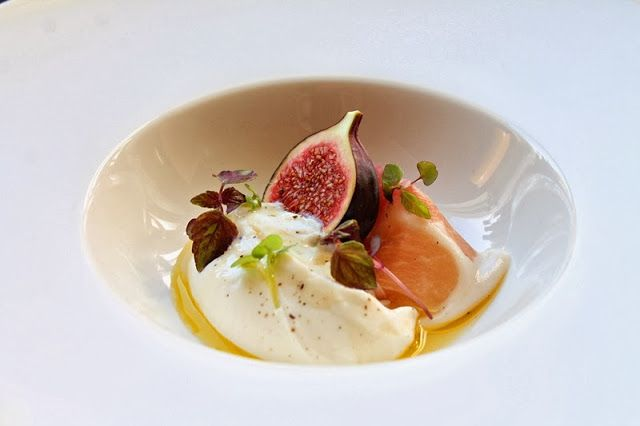 Whipped ricotta cheese with prosciutto, fresh figs & truffle honey