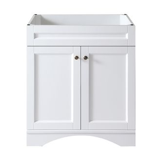 Virtu Usa Elise  Inch White Single Sink Cabinet Only