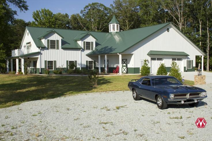 Morton buildings home in north carolina morton building for Morton building house