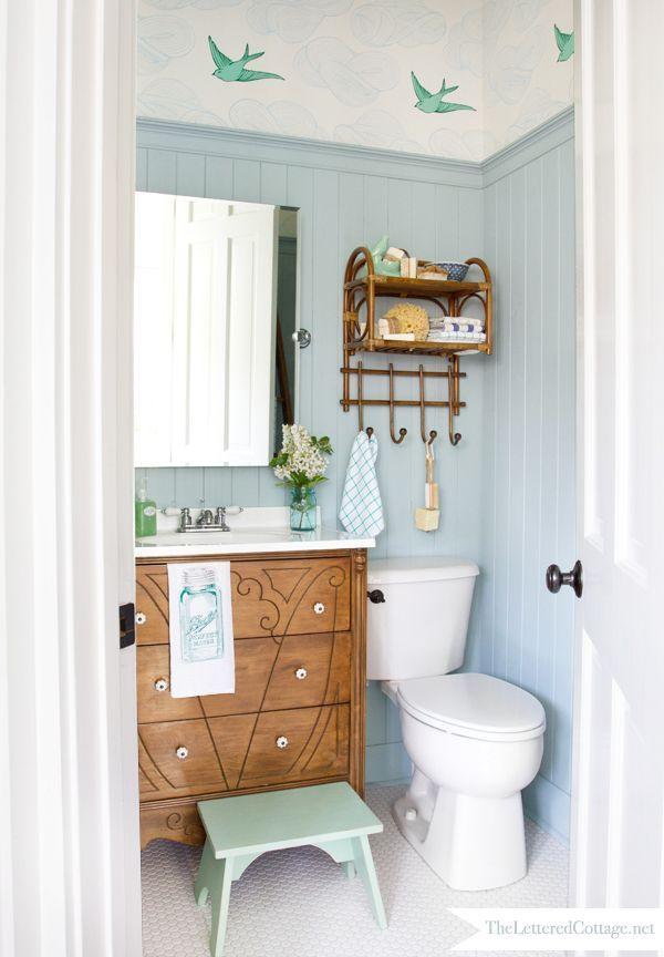 Lovely cottage styled bathroom redo...