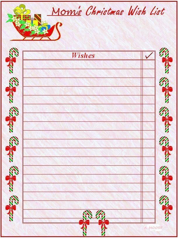 Mom's Christmas Wish List | Printable Stuff | Pinterest