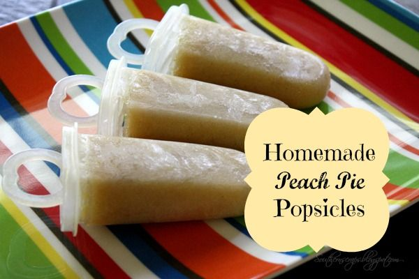 "Southern Scraps : Peach Pie popsicles | Shared at ""The Scoop"" Linky..."