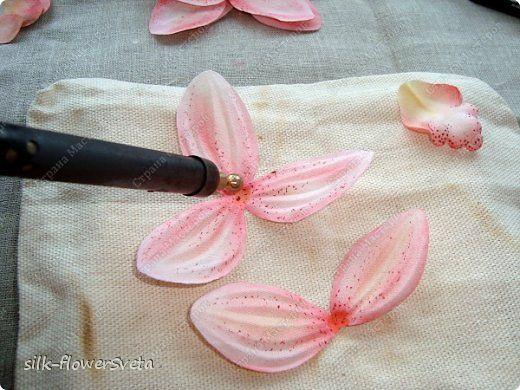 Изготовление цветов из ткани своими руками инструмент