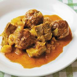 Braised Meatballs with Artichokes and Fennel | Recipe