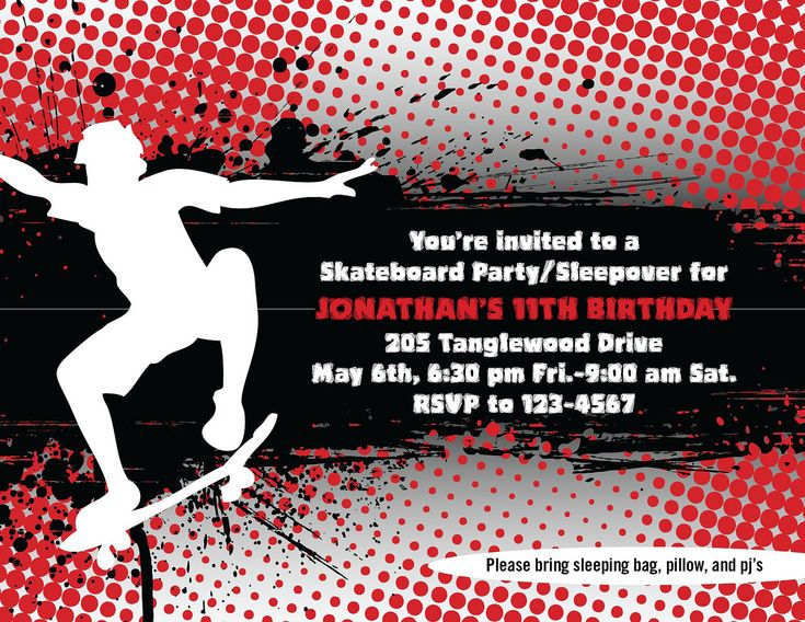 Skate Party Invitation for great invitations template