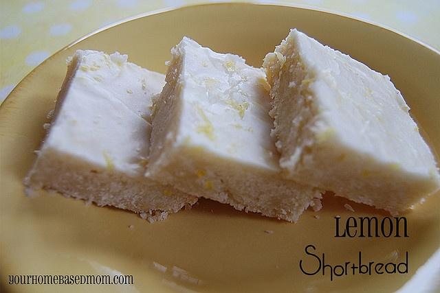 Lemon Shortbread @yourhomebasedmom.com #shortbread,#cookies,#recipes