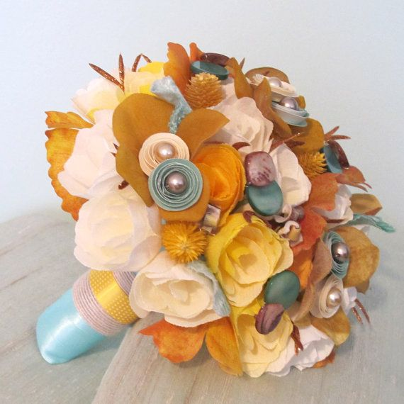 Wedding season sale beach bridal bouquet and bout ready for Fall wedding bouquets for sale
