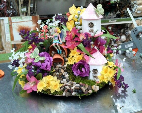 Fairy garden floral arrangement florals from other for Garden arrangement
