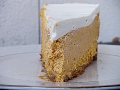 bourbon pumpkin cheesecake. I like to add my flab on with a side of ...