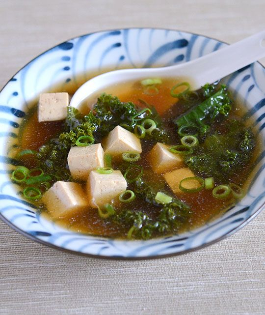 ... miso ginger vinaigrette miso soup with tofu and kale appetite for