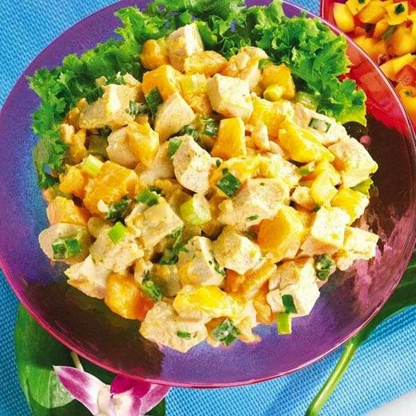 Curried Chicken & Mango Salad | Food | Pinterest