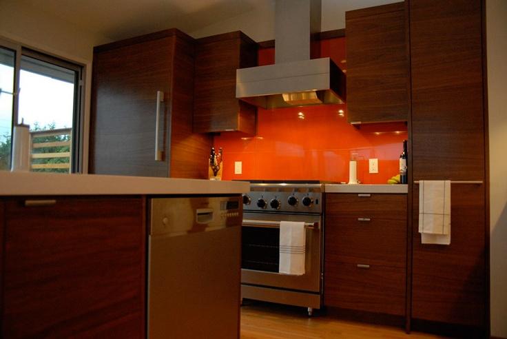 kitchen with orange backsplash kitchen pinterest