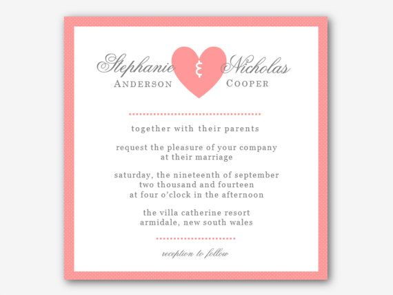 DIY Printable MS Word Wedding Invitation Template W029 by Inkpower, $ ...