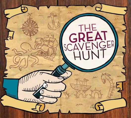 ... Scavenger Treasure Hunt | Treasure Hunt Map The great scavenger hunt