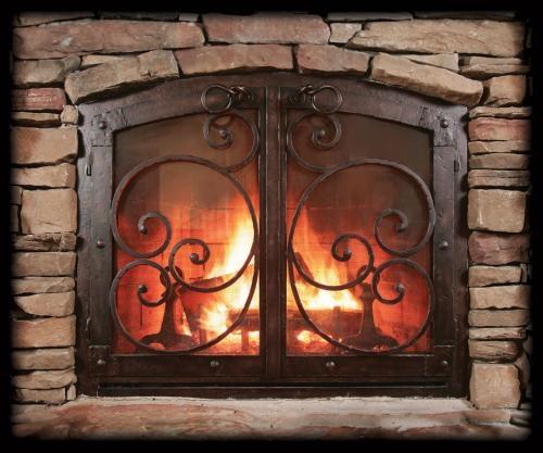 iron scroll fireplace screen home decorating ideas pinterest