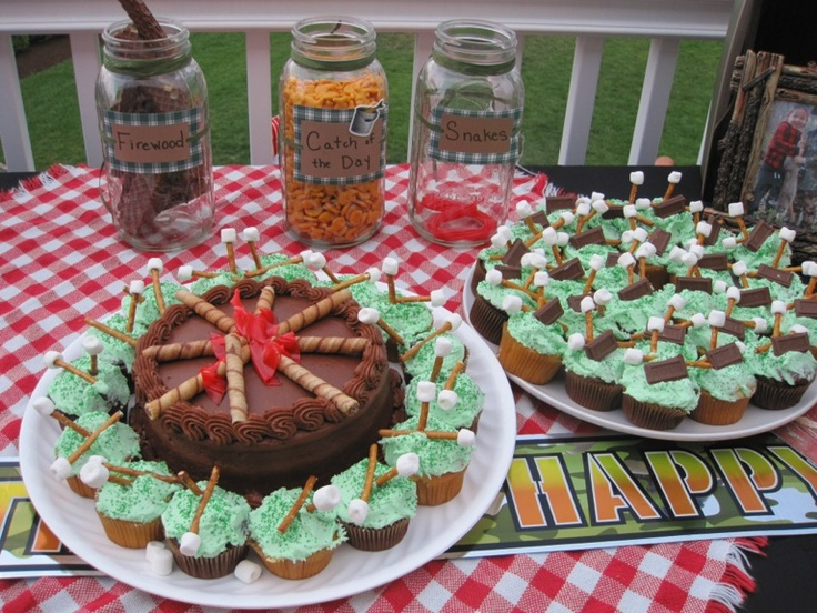 Backyard Bonfire Birthday Party Ideas : Campfire Campout Bonfire Boys Birthday Party