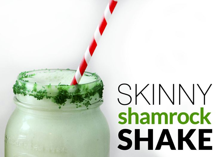 Skinny Shamrock Shake | Food is love | Pinterest