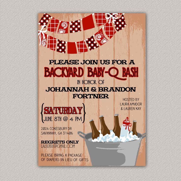 baby q bash couples bbq baby shower invitation diy printable baby