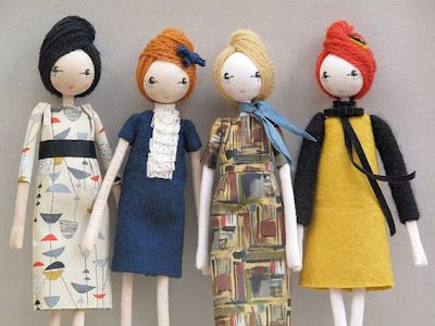 "Sarah Strachan's ""Jackie,"" ""Peggy,"" ""Ida"", ""Dorothy.""  Reminds me of Madmen women."